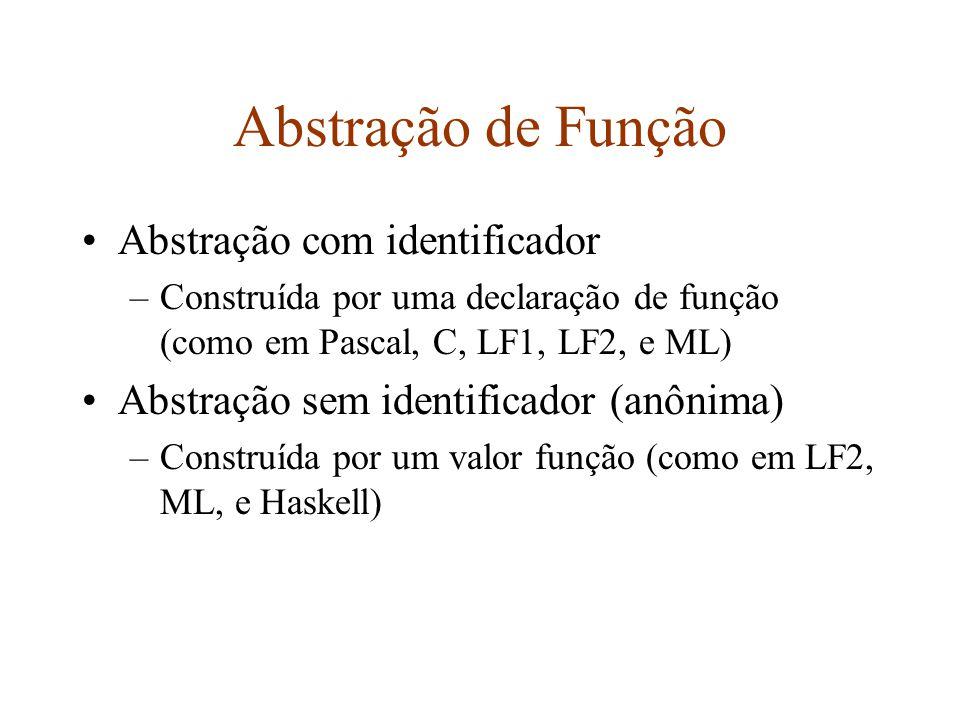 Abstração de Função Abstração com identificador