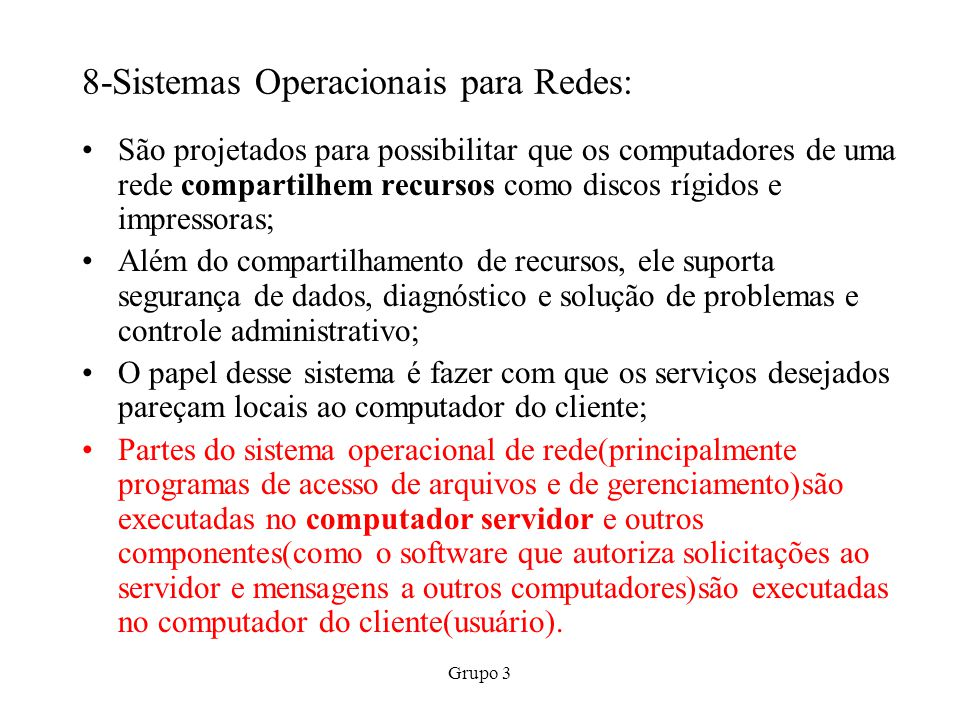 8-Sistemas Operacionais para Redes: