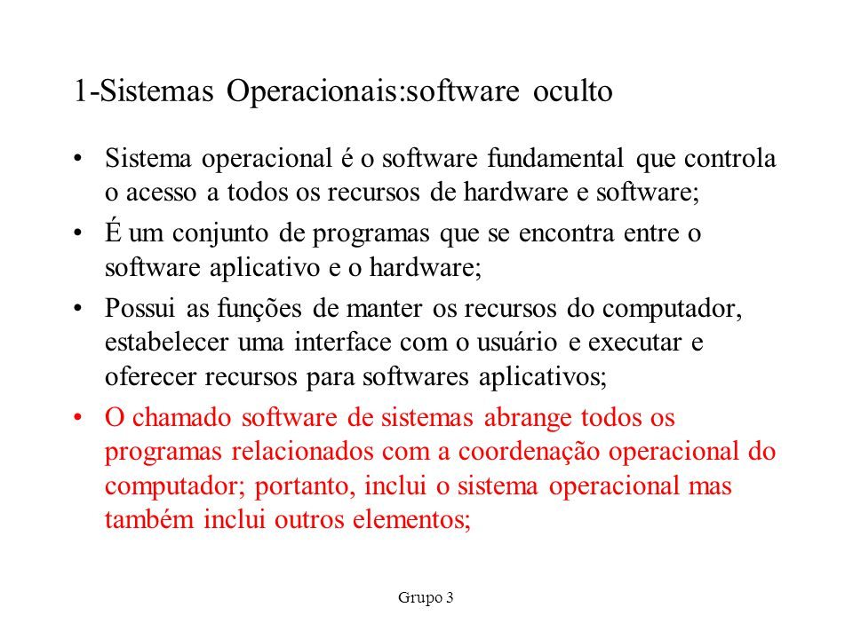 1-Sistemas Operacionais:software oculto