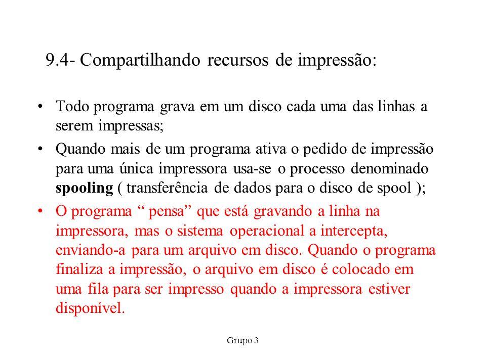 9.4- Compartilhando recursos de impressão: