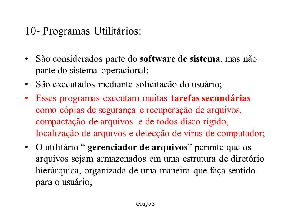 10- Programas Utilitários: