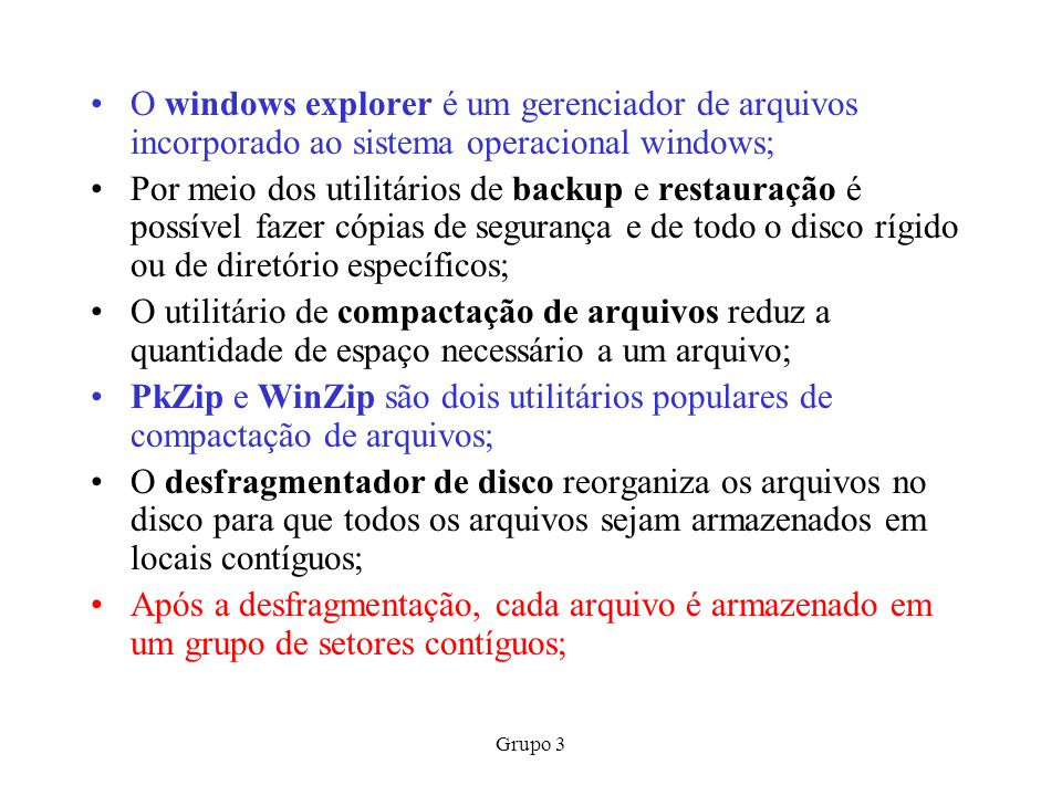 O windows explorer é um gerenciador de arquivos incorporado ao sistema operacional windows;