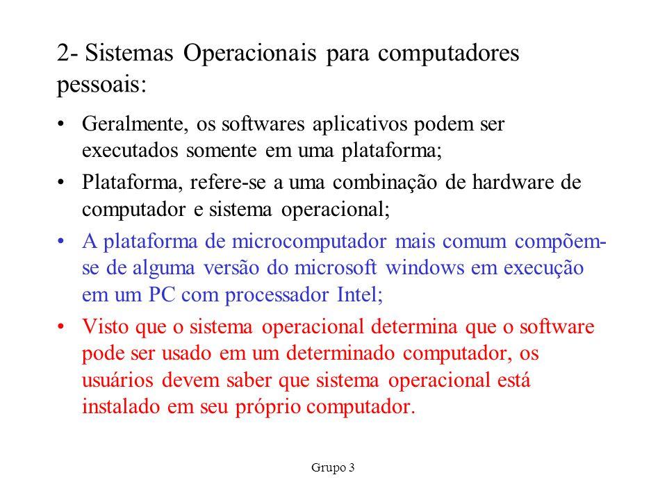 2- Sistemas Operacionais para computadores pessoais: