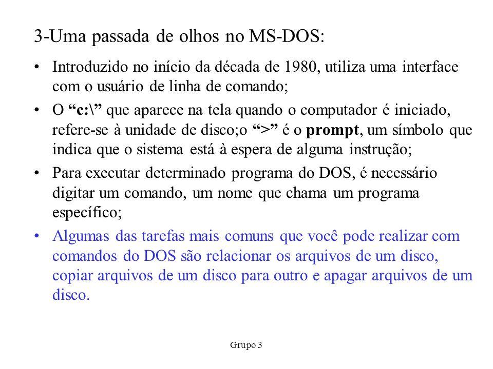3-Uma passada de olhos no MS-DOS:
