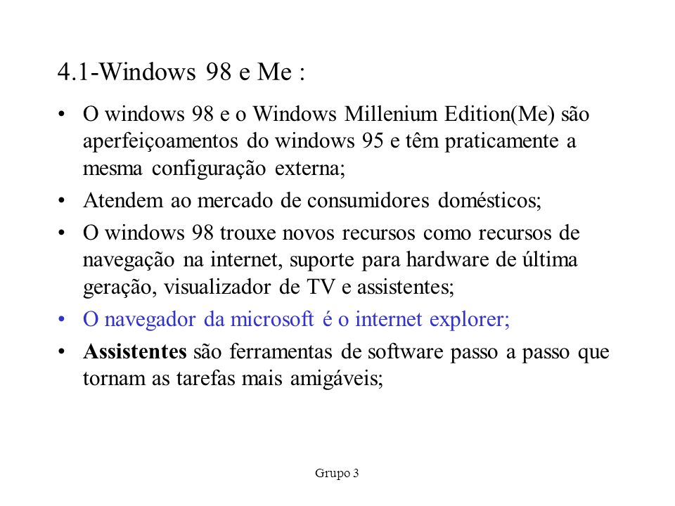 4.1-Windows 98 e Me :