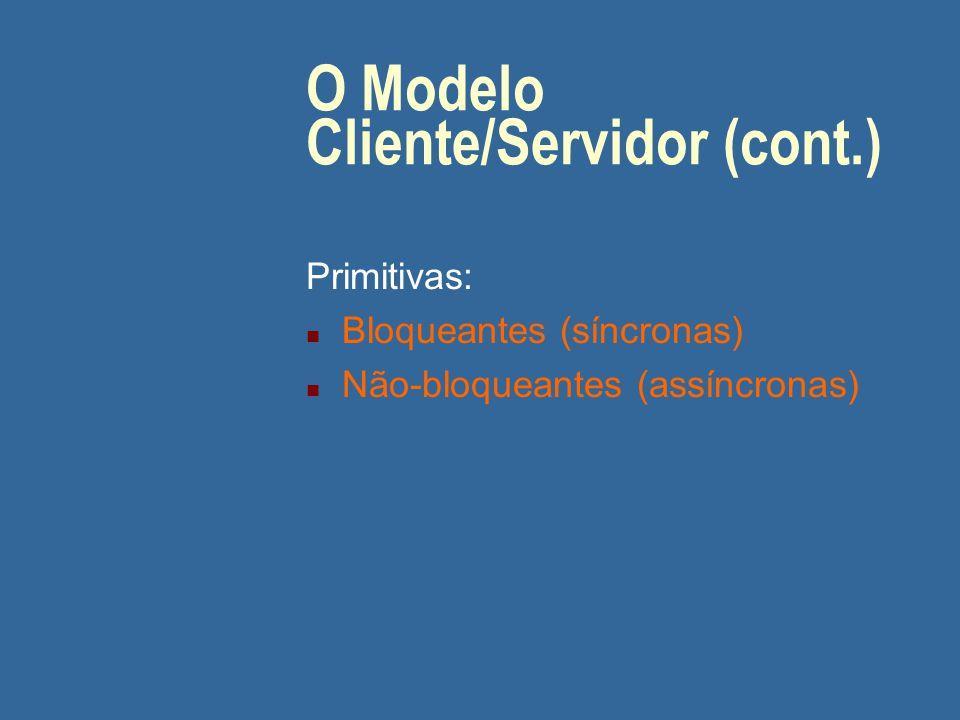 O Modelo Cliente/Servidor (cont.)