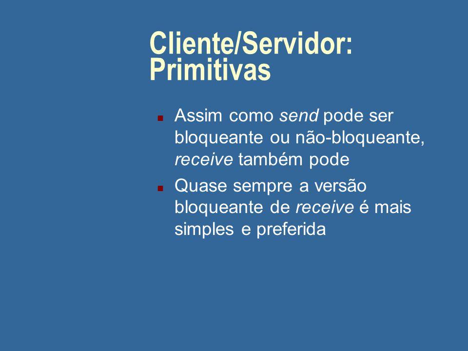 Cliente/Servidor: Primitivas
