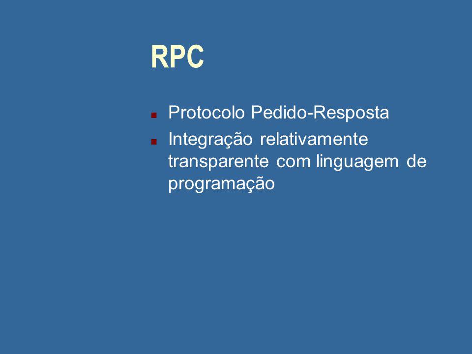 RPC Protocolo Pedido-Resposta