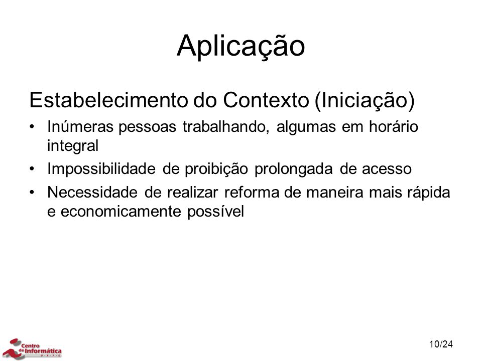 Aplicação Estabelecimento do Contexto (Iniciação)