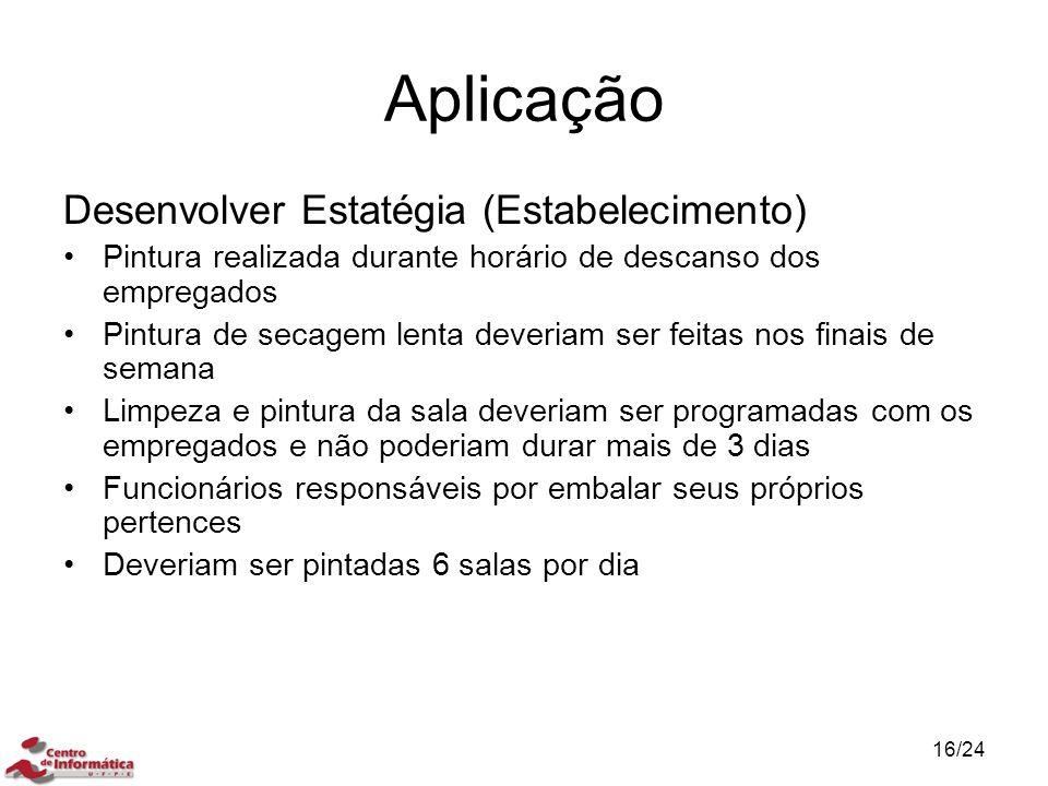 Aplicação Desenvolver Estatégia (Estabelecimento)