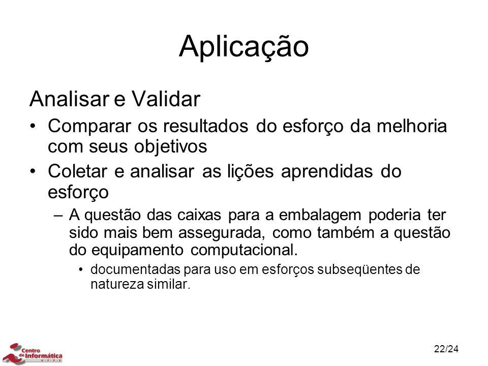 Aplicação Analisar e Validar