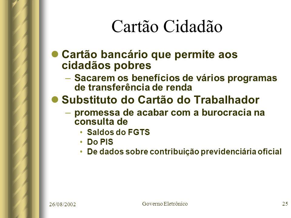 Cartão Cidadão Cartão bancário que permite aos cidadãos pobres