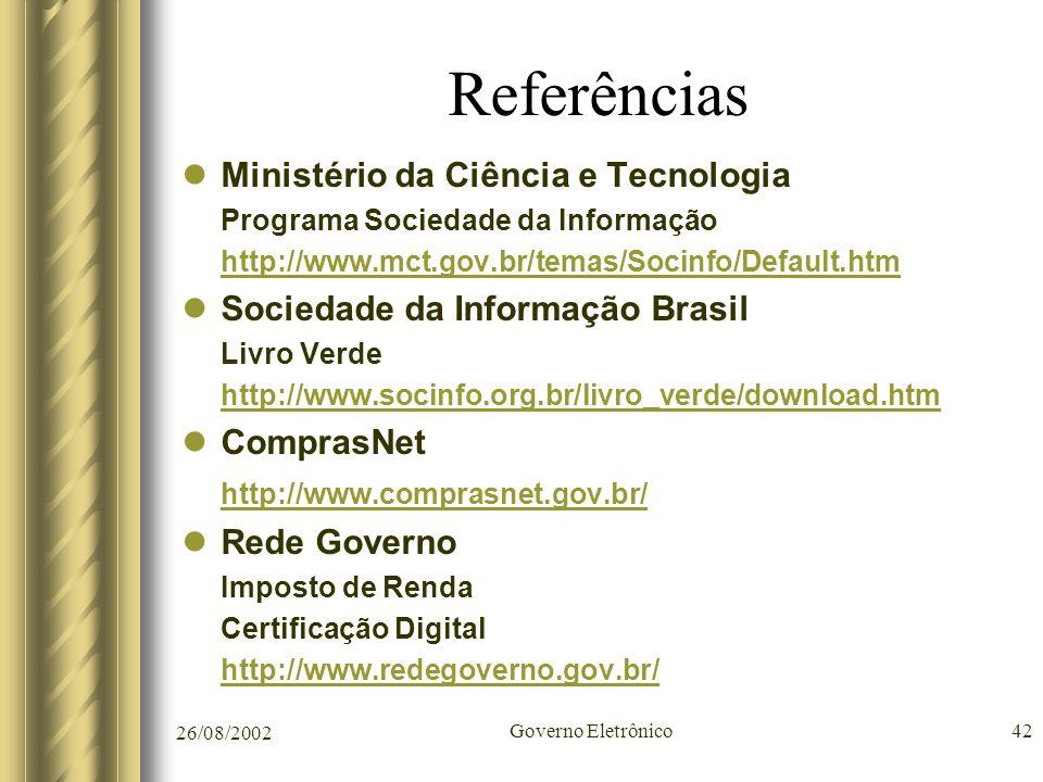 Referências Ministério da Ciência e Tecnologia