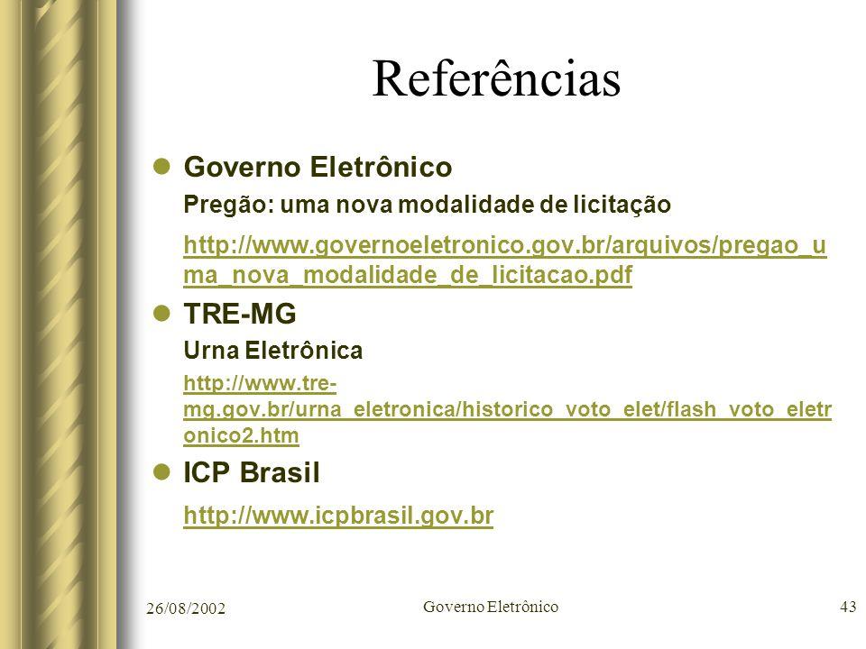Referências Governo Eletrônico
