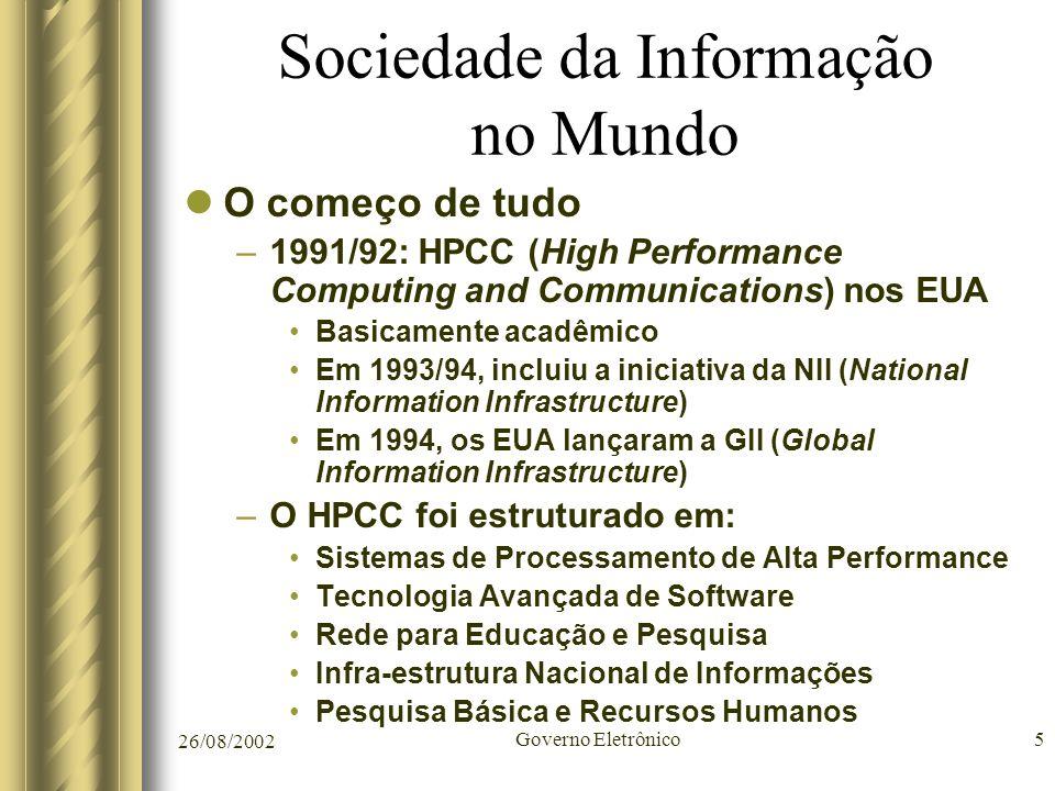 Sociedade da Informação no Mundo
