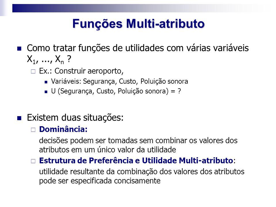 Funções Multi-atributo