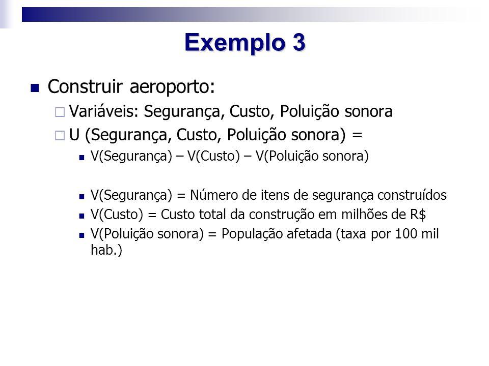 Exemplo 3 Construir aeroporto: