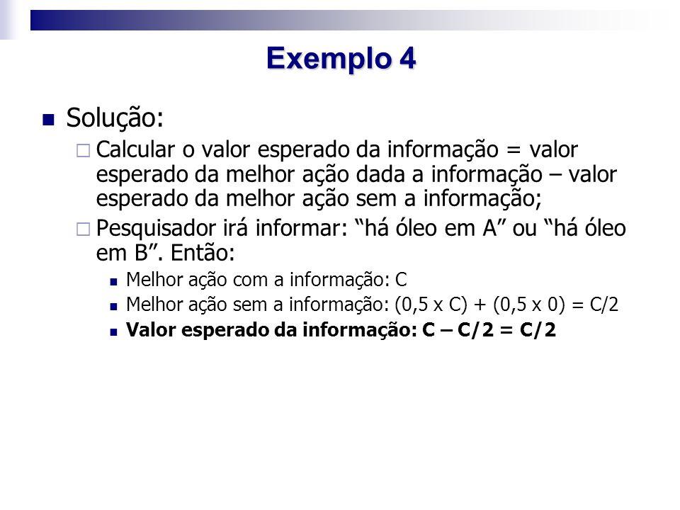 Exemplo 4 Solução: