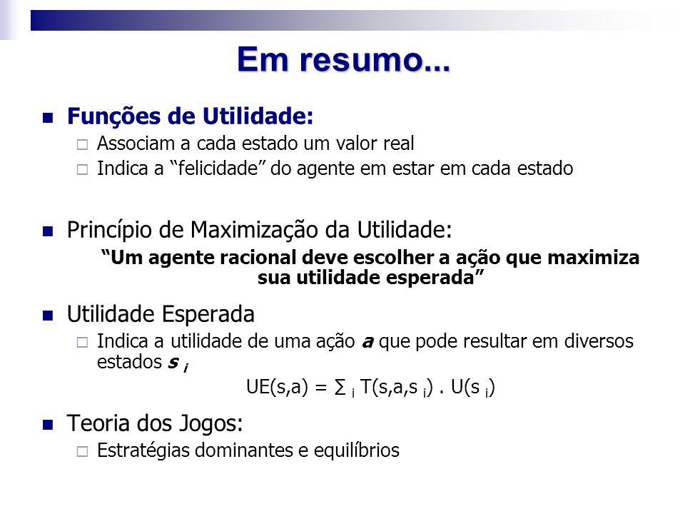 UE(s,a) = ∑ i T(s,a,s i) . U(s i)