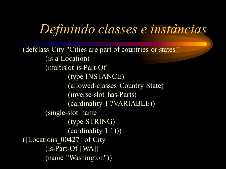 Definindo classes e instâncias