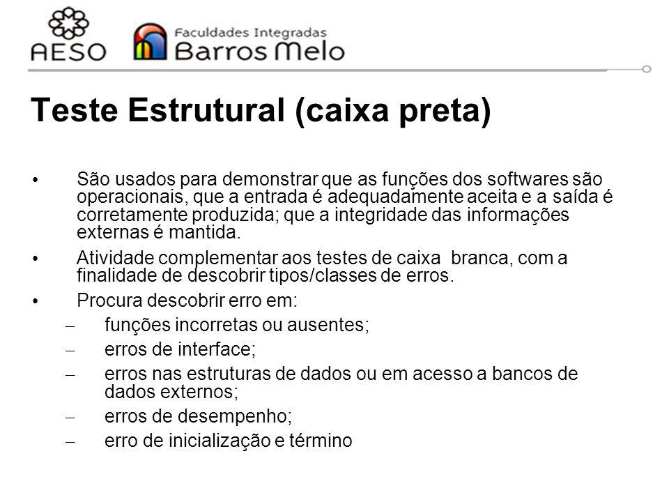 Teste Estrutural (caixa preta)