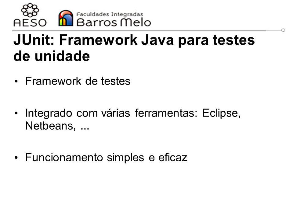 JUnit: Framework Java para testes de unidade