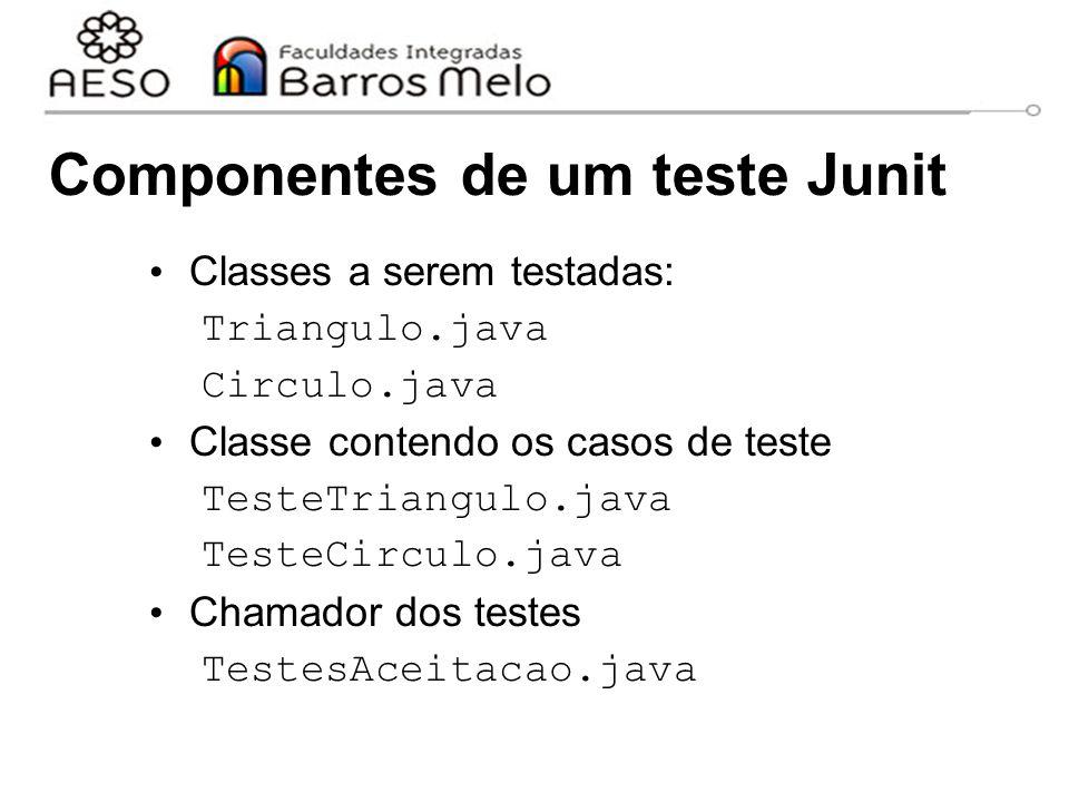 Componentes de um teste Junit