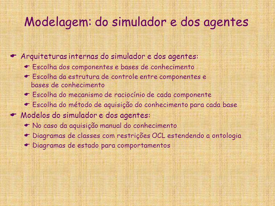Modelagem: do simulador e dos agentes