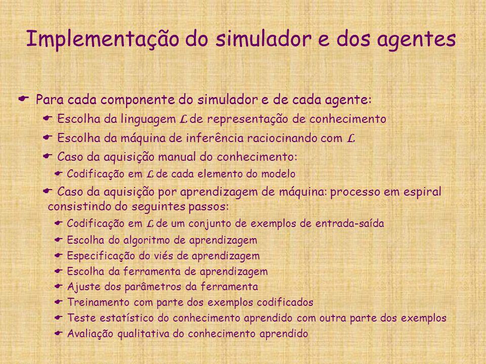 Implementação do simulador e dos agentes