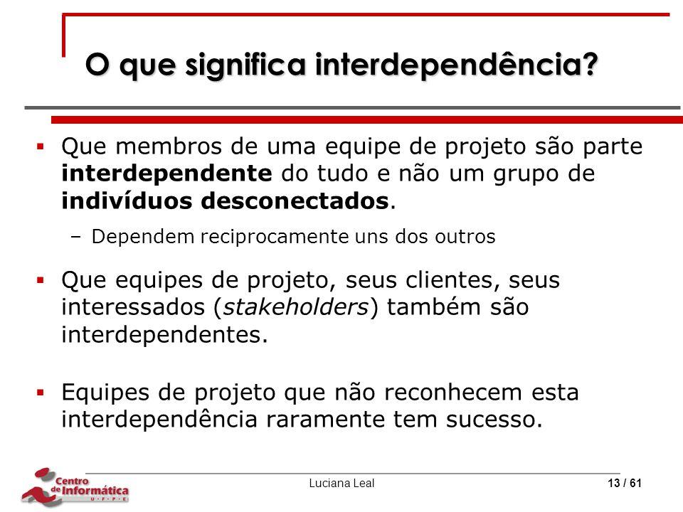 O que significa interdependência