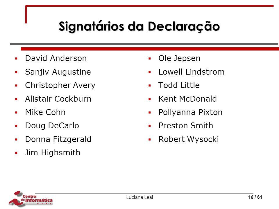 Signatários da Declaração