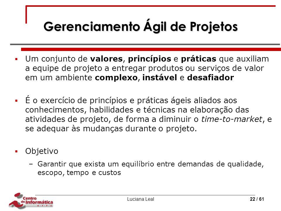 Gerenciamento Ágil de Projetos