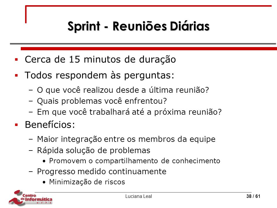 Sprint - Reuniões Diárias