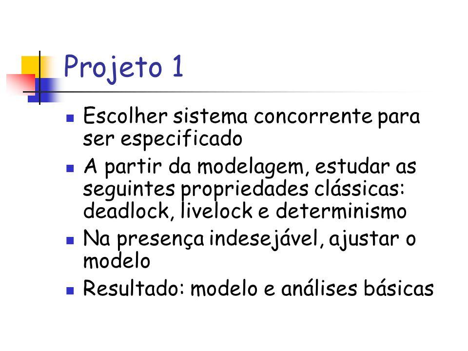 Projeto 1 Escolher sistema concorrente para ser especificado