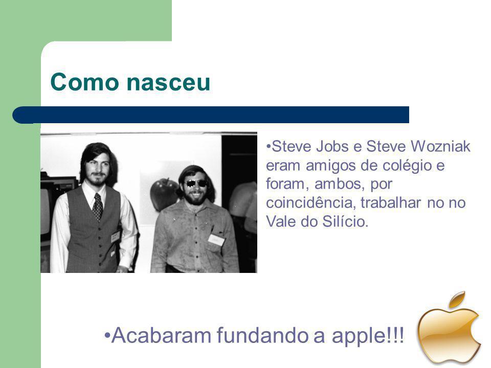 Como nasceu Acabaram fundando a apple!!!