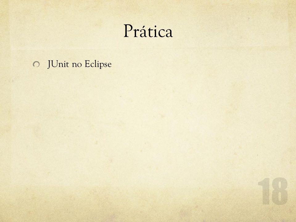 Prática JUnit no Eclipse