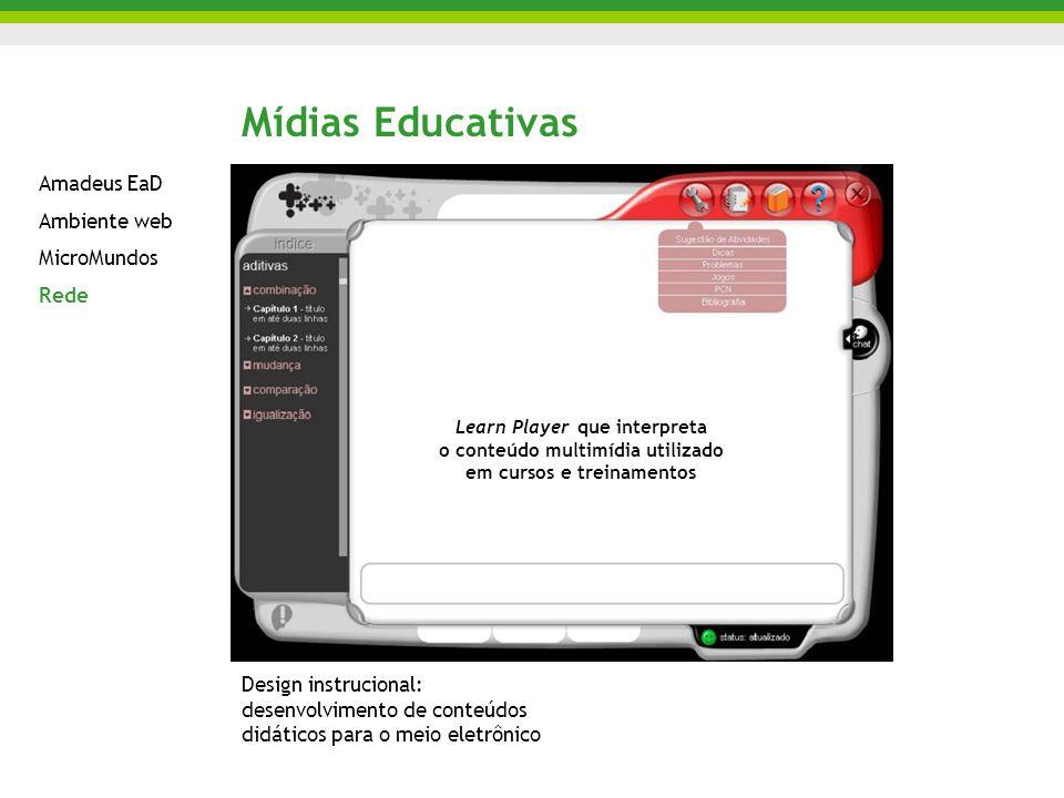 Mídias Educativas Amadeus EaD Ambiente web MicroMundos Rede