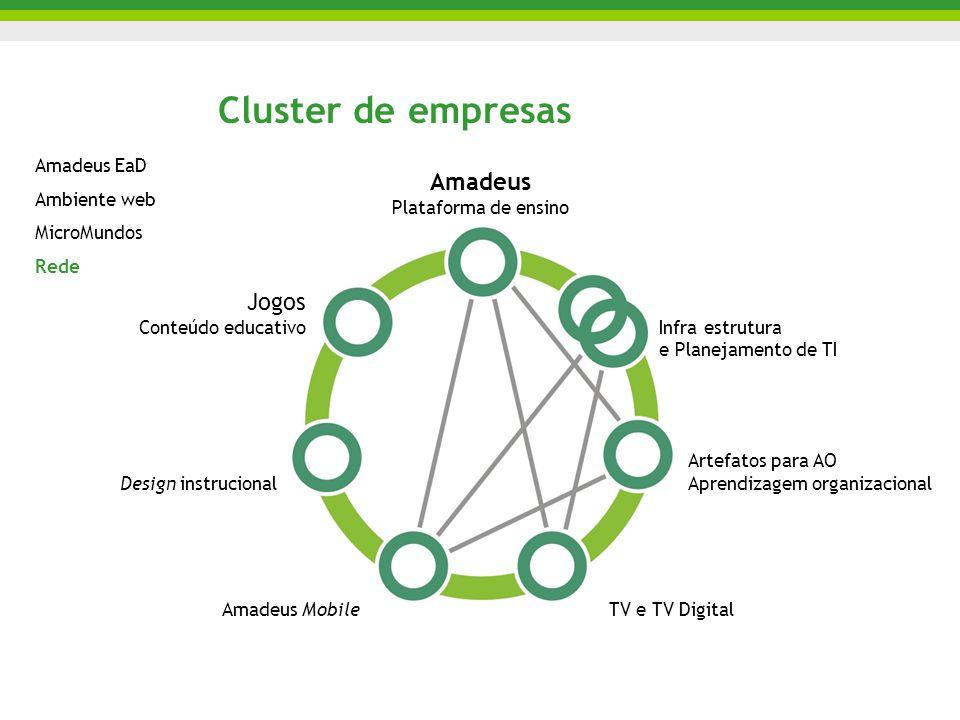 Cluster de empresas Amadeus Jogos Amadeus EaD Ambiente web MicroMundos