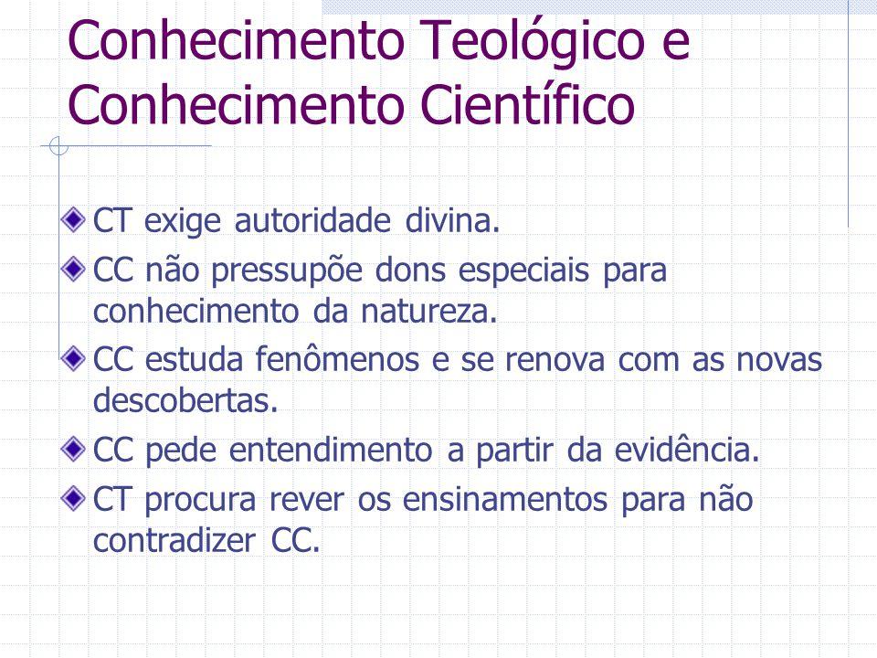 Conhecimento Teológico e Conhecimento Científico