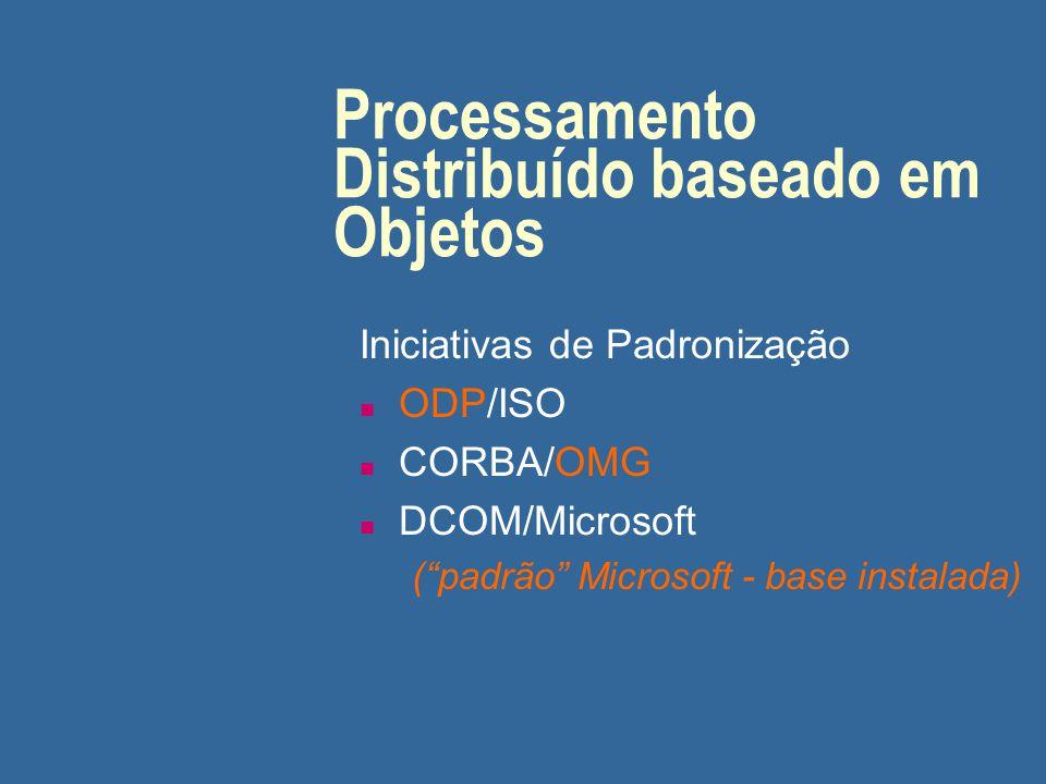 Processamento Distribuído baseado em Objetos