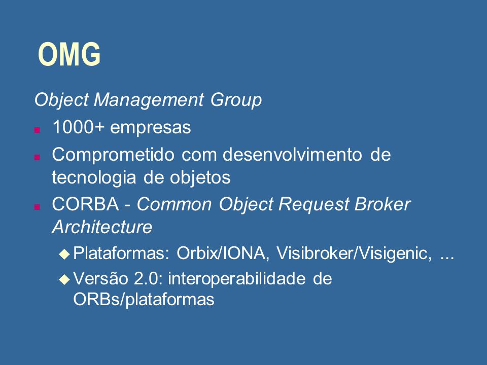 OMG Object Management Group 1000+ empresas