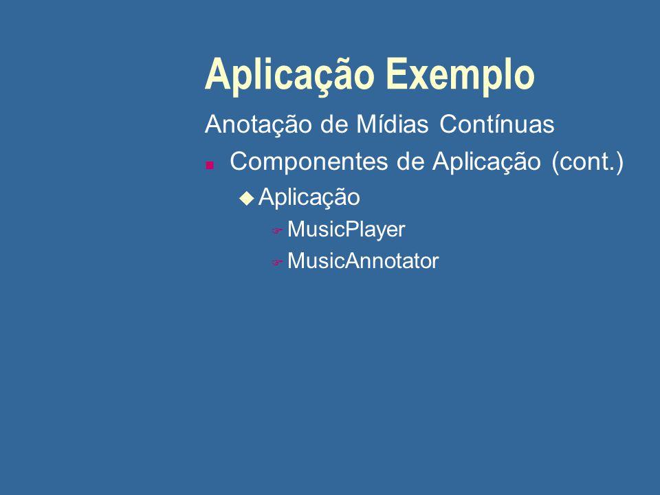 Aplicação Exemplo Anotação de Mídias Contínuas
