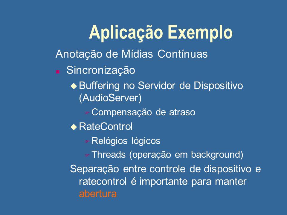 Aplicação Exemplo Anotação de Mídias Contínuas Sincronização