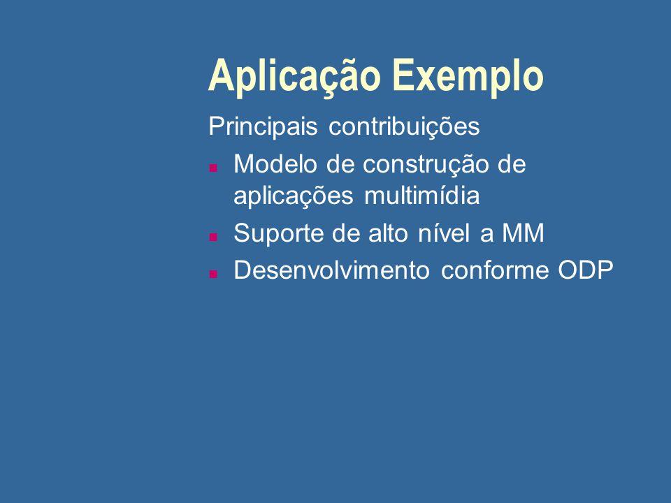 Aplicação Exemplo Principais contribuições