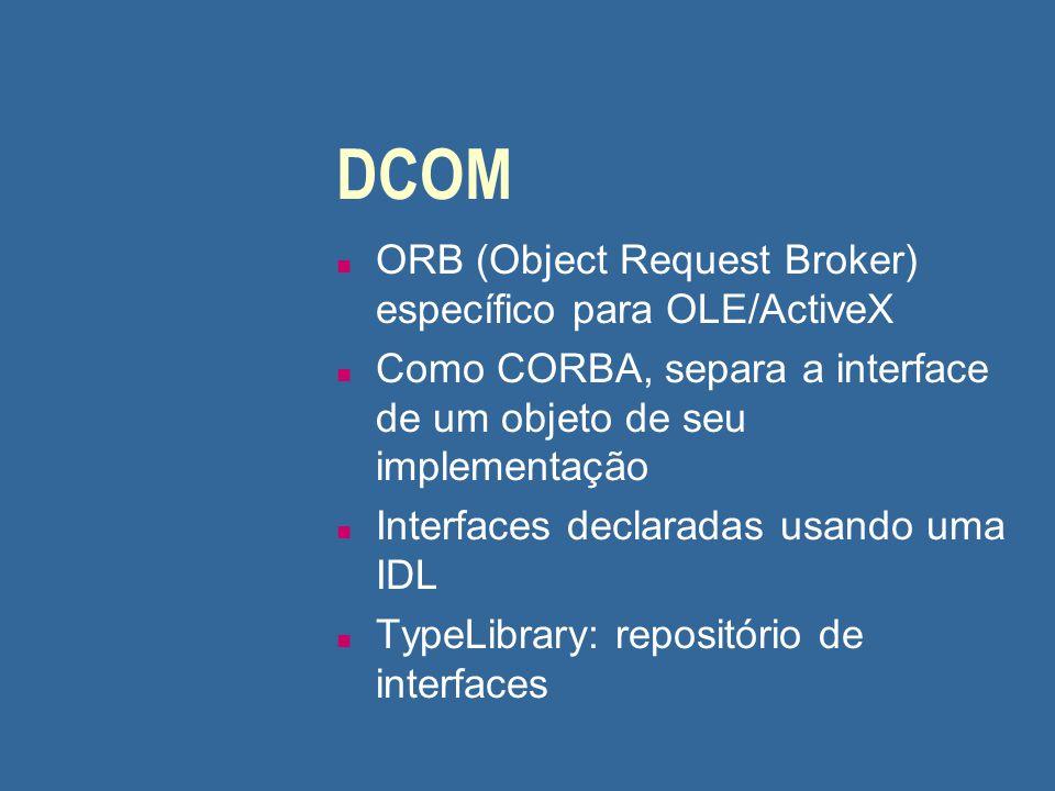 DCOM ORB (Object Request Broker) específico para OLE/ActiveX