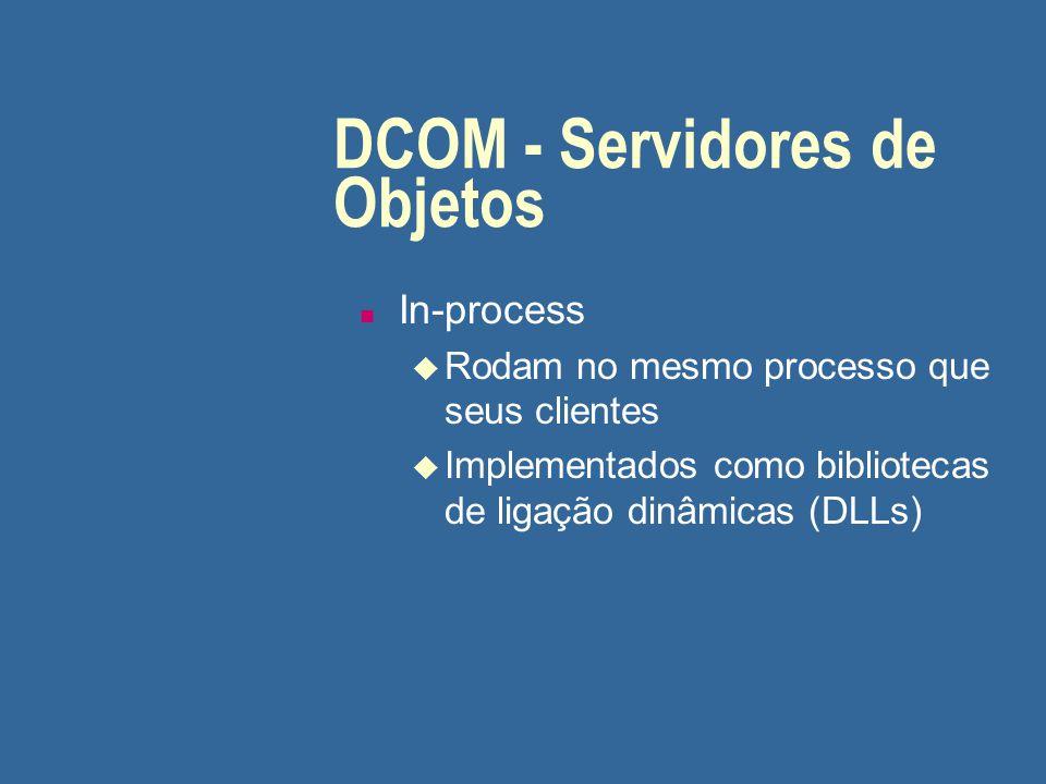 DCOM - Servidores de Objetos