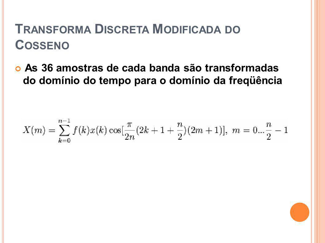 Transforma Discreta Modificada do Cosseno