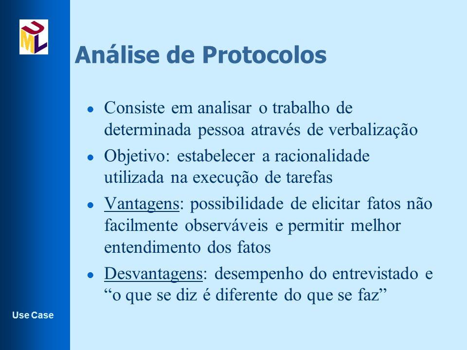 Análise de Protocolos Consiste em analisar o trabalho de determinada pessoa através de verbalização.