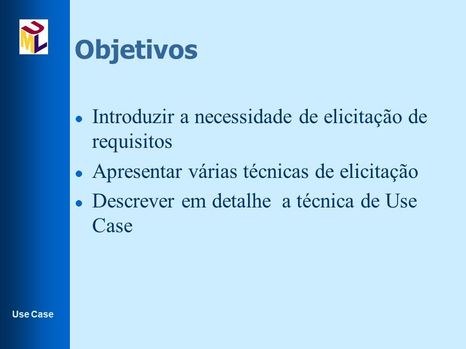 Objetivos Introduzir a necessidade de elicitação de requisitos