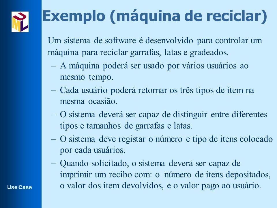 Exemplo (máquina de reciclar)